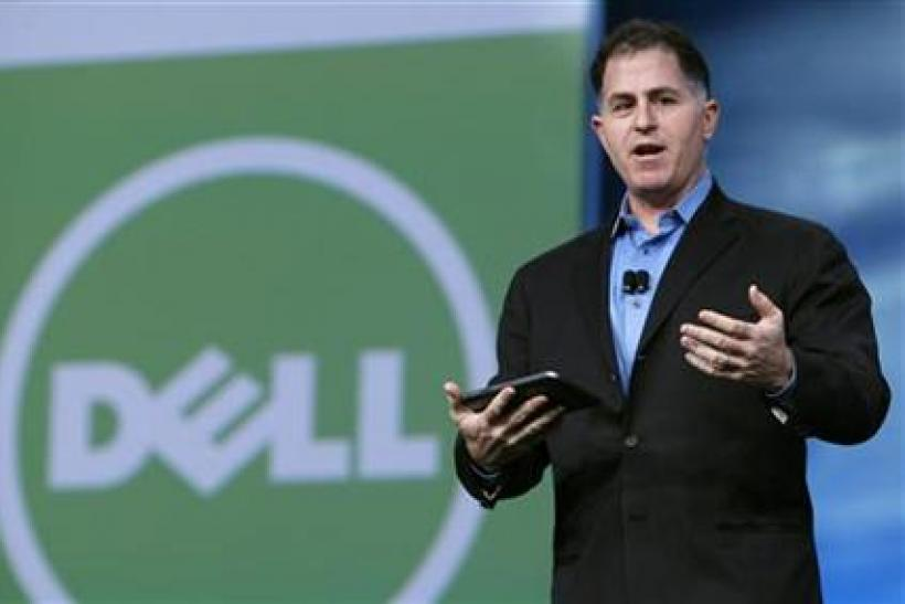 Dell founder and CEO Michael Dell delivers his keynote address at Oracle Open World in San Francisco