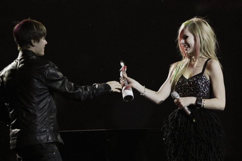 Justin Bieber and Avril Lavigne