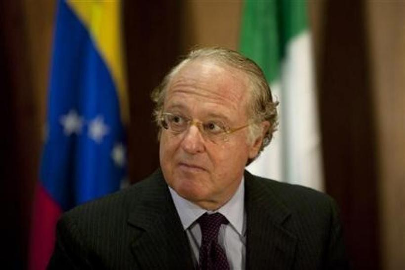 Italy's Eni Chief Executive Paolo Scaroni