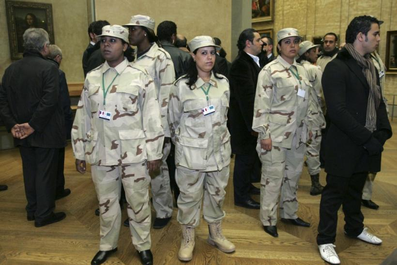 Gaddafi's trained female bodyguards