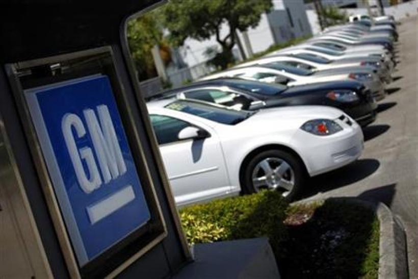 Chevrolet cars are seen at a GM dealership in Miami