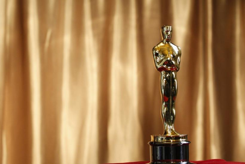 "An Oscar statuette is displayed at the ""Meet the Oscars"" exhibit at Grand Central Station in New York"