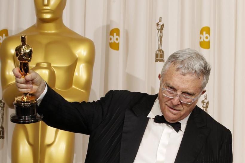 Randy Newman holds his award for best original song for 'We Belong Together' from 'Toy Story 3,' backstage at the 83rd Academy Awards in Hollywood, California, February 27, 2011.