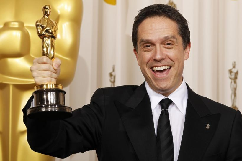 Lee Unkrich holds his Oscar for Best Animated Feature for 'Toy Story 3' backstage at the 83rd Academy Awards in Hollywood, California.