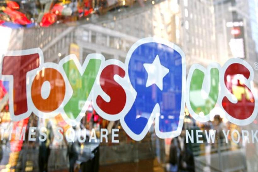 "The entrance to the Toys ""R"" Us Times Square store is seen in New York"