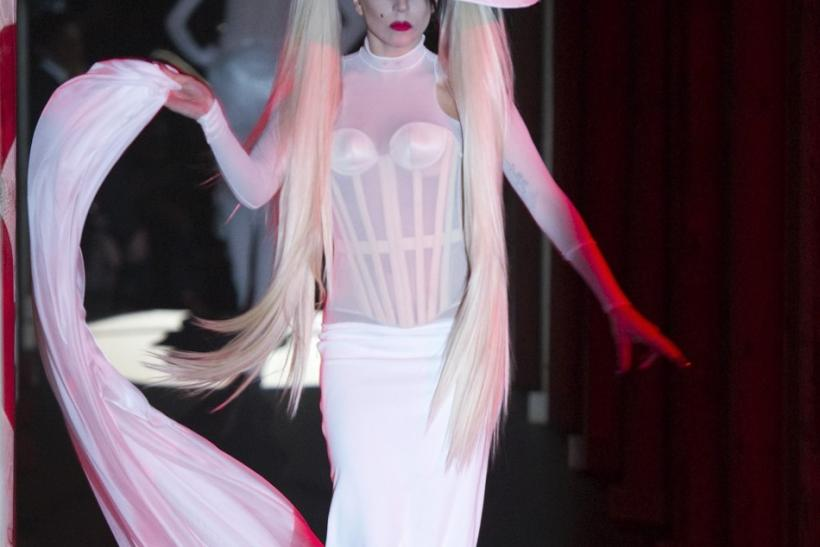Lady Gaga's first catwalk debut at Paris Fashion Week.
