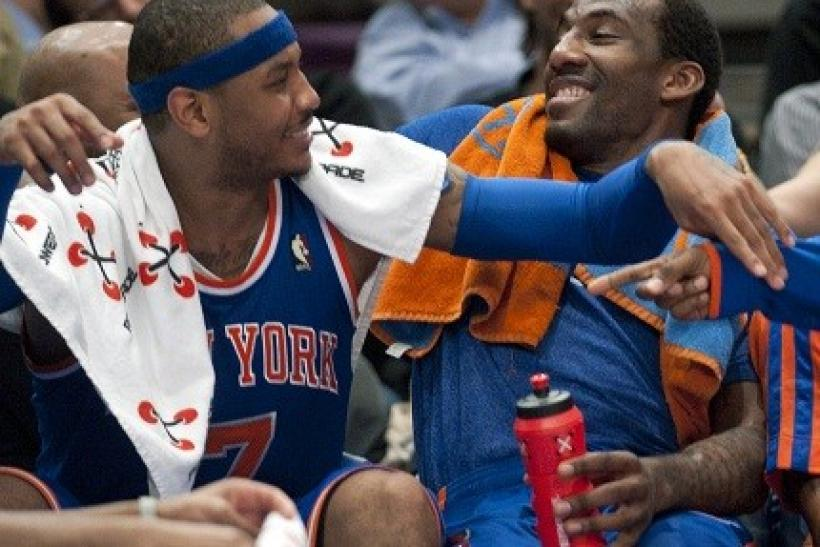Carmelo Anthony and Amare Stoudemire have seen no change to their numbers