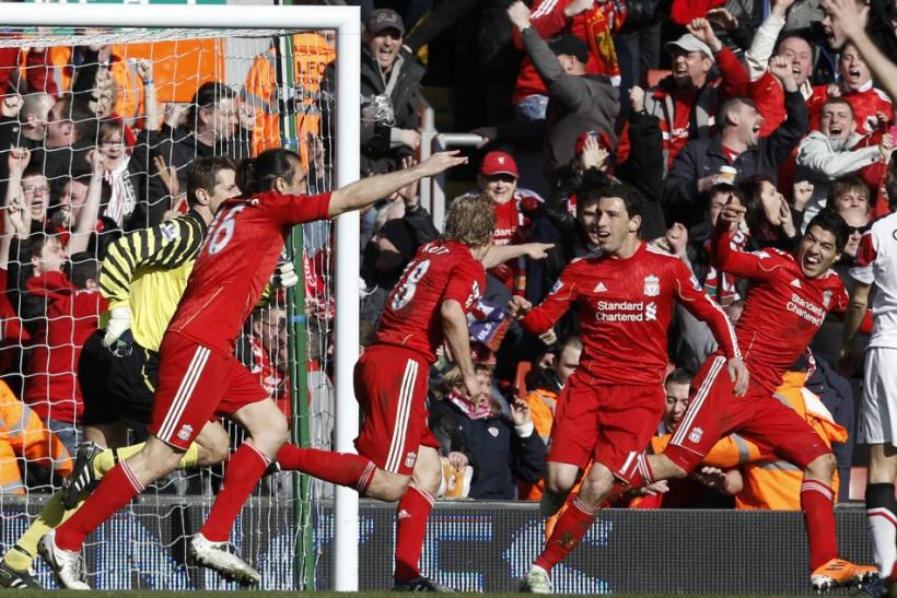 It was a sensational victory for Liverpool as forward Dirk Kuyt scored a hat-trick to down bitter-rivals Manchester United 3-1 in a deserved win at Anfield.