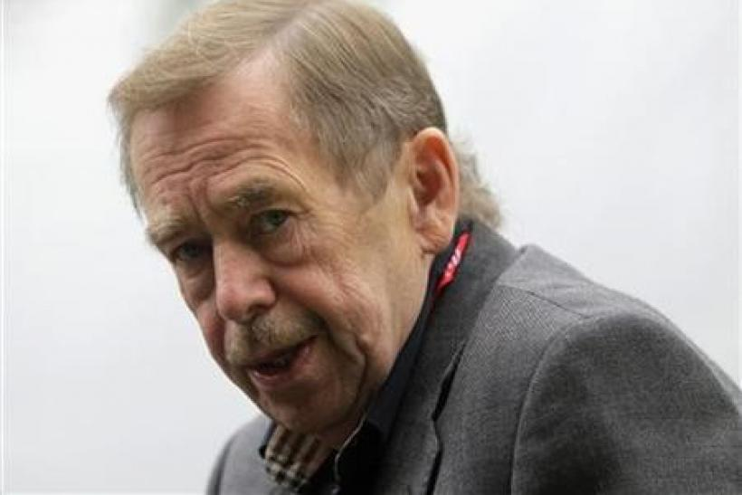Former Czech President, dissident and playwright Vaclav Havel