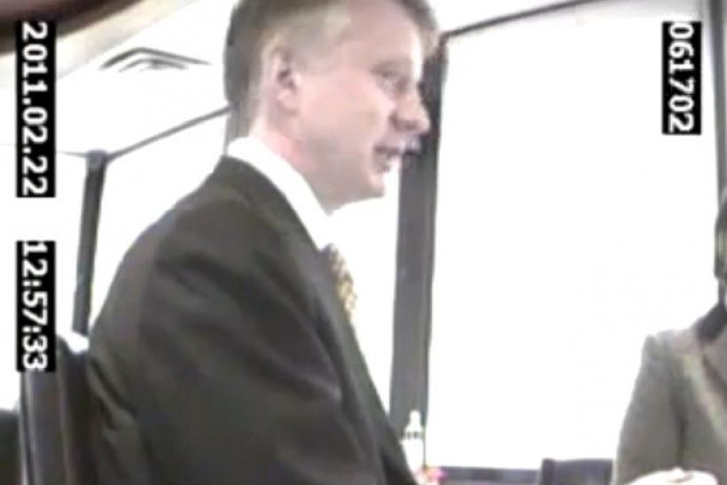 In a screenshot from a video provided by Project Veritas, NPR Executive Ronald Schiller is seen in a Washington D.C. Cafe speaking on February 22, 2011.