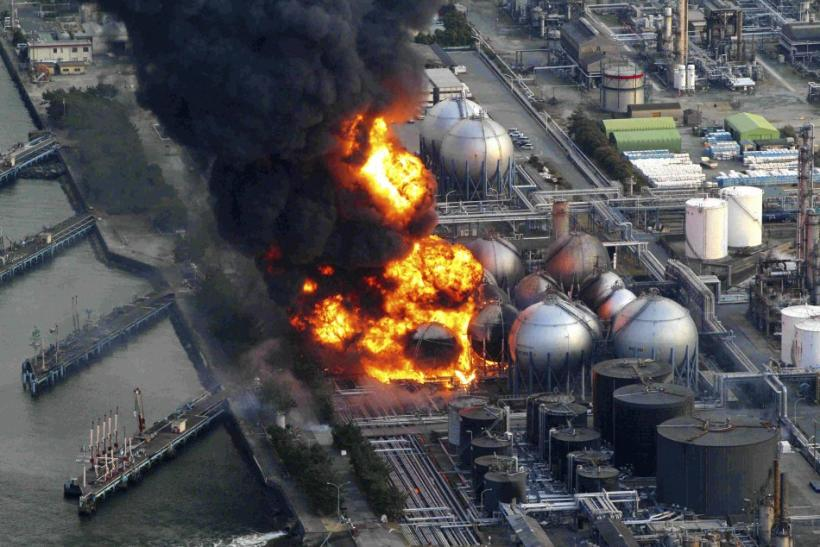 Latest pictures of fire in Chiba Prefecture following Japan earthquake (PHOTOS).