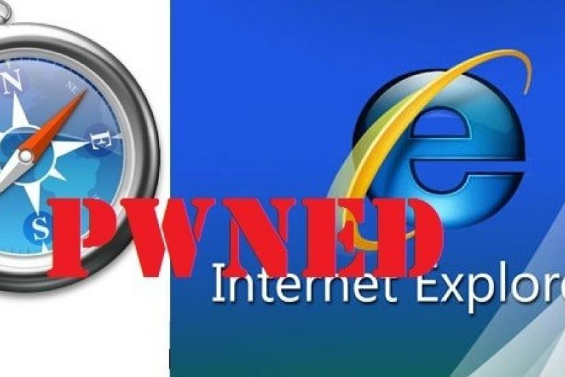 IE8, Safari Pwned