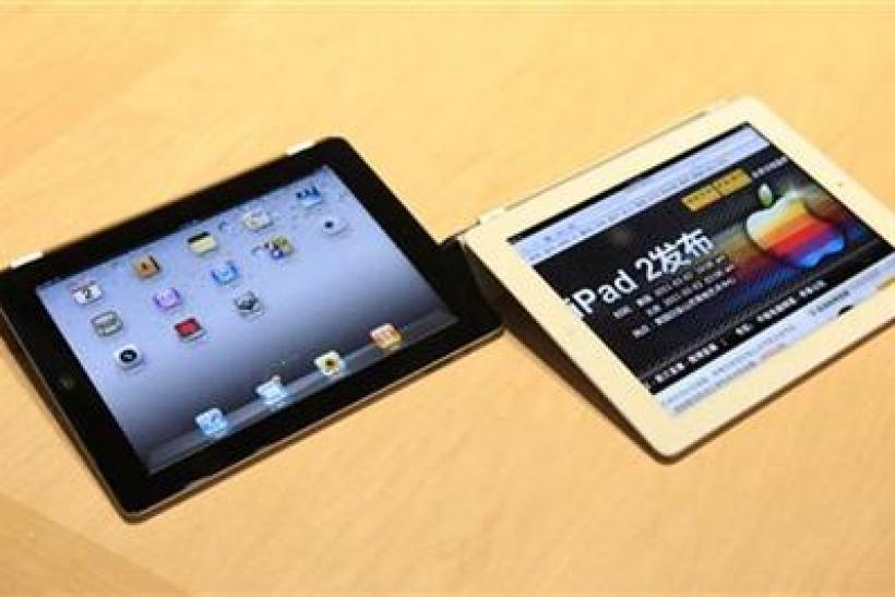 The Apple iPad 2 is shown during its launch event in San Francisco