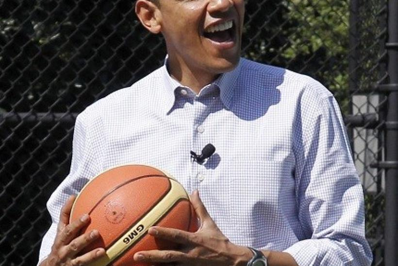 Obama loves to play and talk about sports.