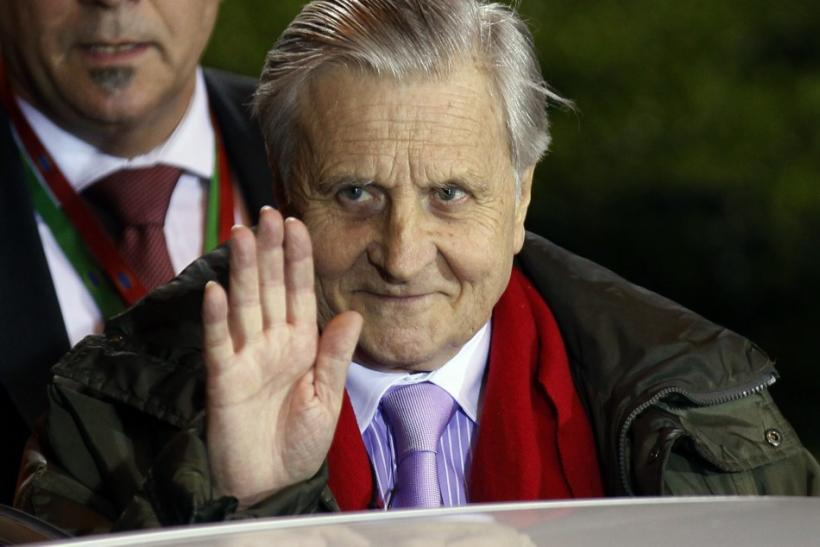 President of the European Central Bank Jean-Claude Trichet leaves an Euro zone leaders summit in Brussels March 12, 2011.