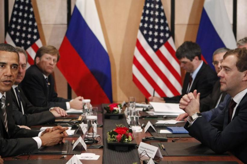 Russian President Dmitry Medvedev (Right) and U.S. President Barack Obama