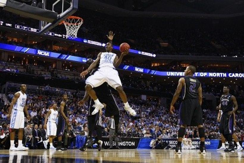Harrison Barnes makes up a trio of UNC frontcourt scoreres