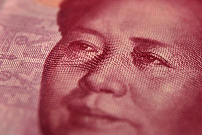Late Chinese leader Mao Zedong is seen on a 100 yuan banknote