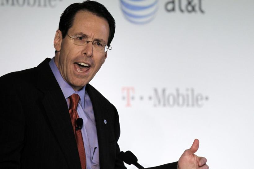 AT&T Inc. CEO Randall Stephenson announces his company's proposal to buy T-Mobile from Deutsche Telekom in New York