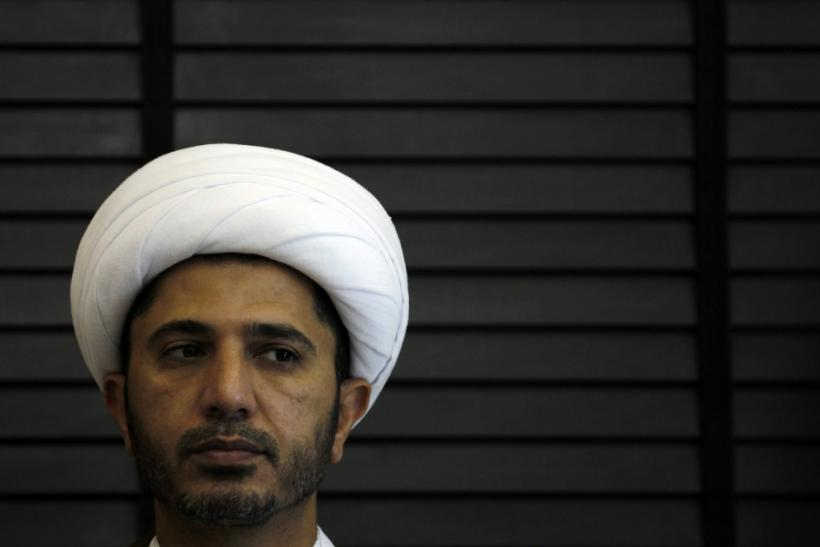 Bahrain's main Shi'ite opposition group Wefaq leader Sheikh Ali Salman attends a news conference in Manama