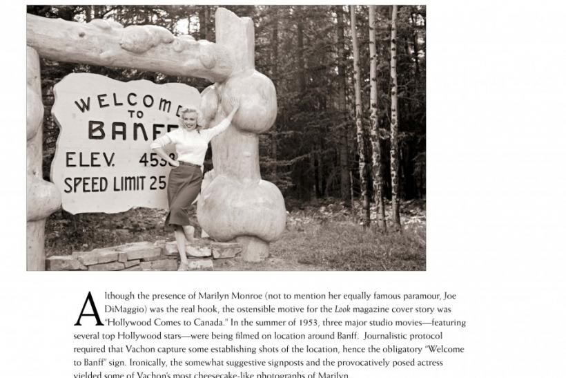 Handout image shows actress Marilyn Monroe from a collection of previously unpublished photos of her in Alberta