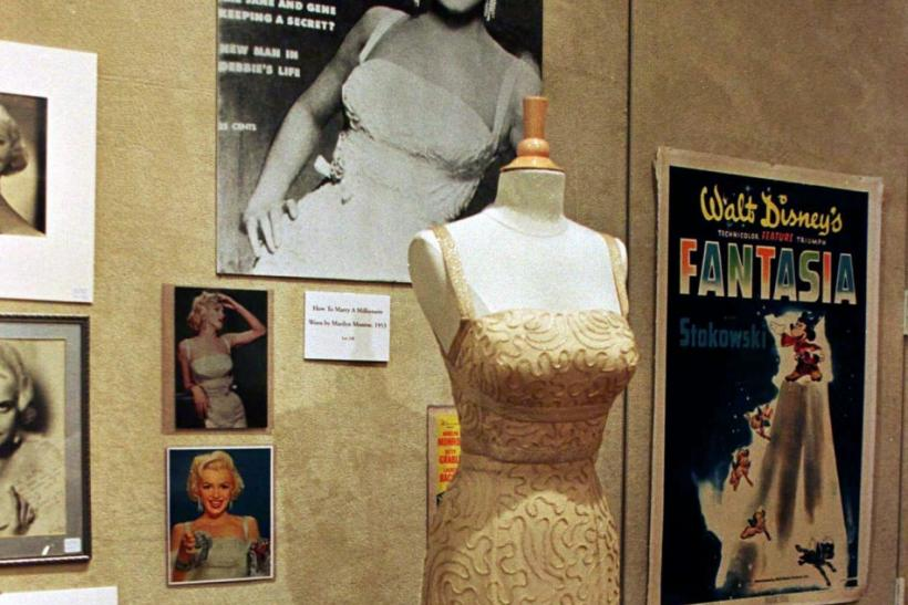 "Actress Marilyn Monroe's evening gown, which she wore in the 1953 film ""How To Marry A Millionaire.'"