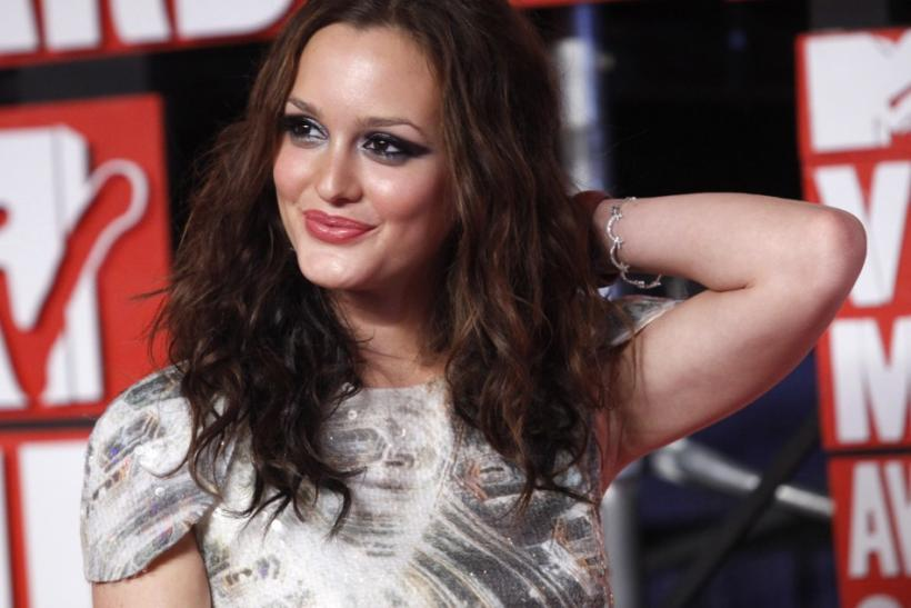Leighton Meester arrives at the 2009 MTV Video Music Awards in New York