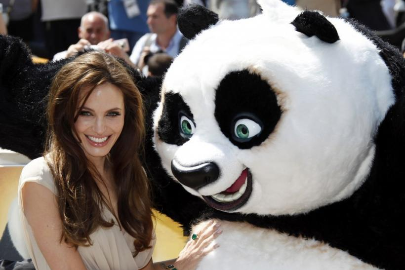 "Voice actress Jolie poses during a photocall for the animated film ""Kung Fu Panda 2"" during the Cannes Film Festival"