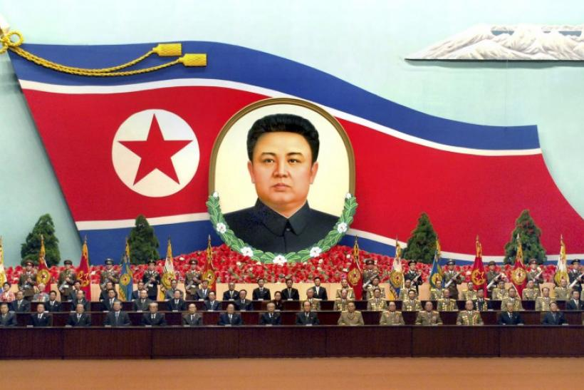 The central general meeting is held at the April 25 House of Culture in Pyongyang