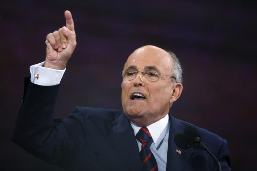 Former Republican presidential candidate Giuliani speaks at the 2008 Republican National Convention in St. Paul Minnesota