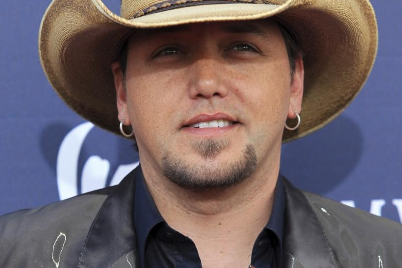 Singer Jason Aldean poses at the 46th annual Academy of Country Music Awards in Las Vegas
