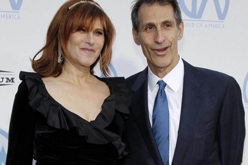 Amy Pascal (L), Co-Chairman of Sony Pictures Entertainment, poses with Michael Lynton (R), Chairman and Chief Executive Officer of Sony Pictures Entertainment