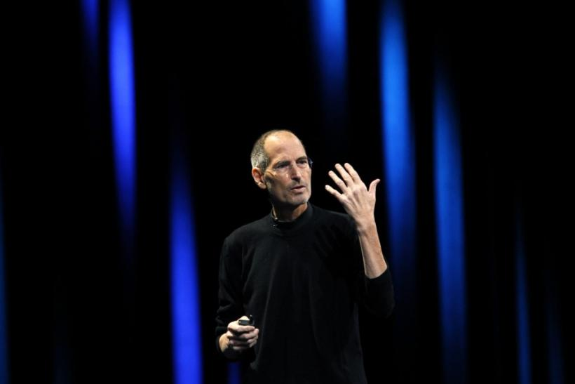Steve Jobs takes the stage from Scott Forstall at the Apple Worldwide Developers Conference in San Francisco