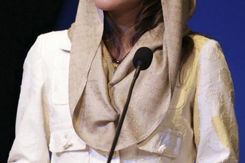 Jordan's Queen Rania addresses the Jeddah Economic Forum in Jeddah