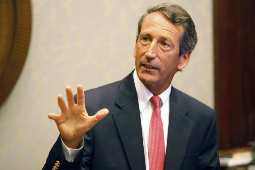 South Carolina Governor Mark Sanford addresses the media at a news conference at the State House in Columbia