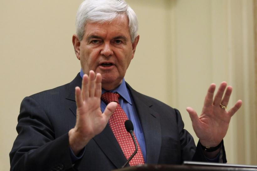 Republican U.S. Presidential candidate Gingrich speaks at the 51st Washington Conference with Laffer Associates in Washington