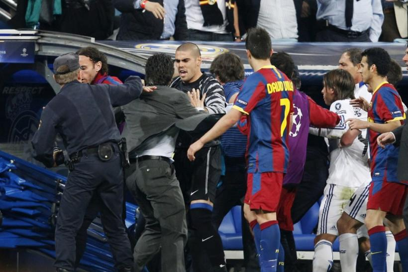 Real Madrid's Champions League semifinal first leg tie against Barcelona was an ugly affair with two red cards and many off the ball incidents.