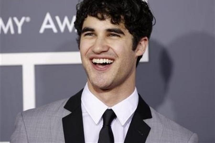Darren Criss from 'Glee' arrives at the 53rd annual Grammy Awards