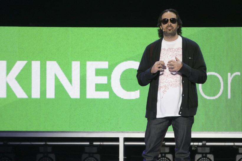 Kudo Tsunoda of Microsoft discusses new Kinect features at the Microsoft E3 XBOX 360 media briefing in Los Angeles