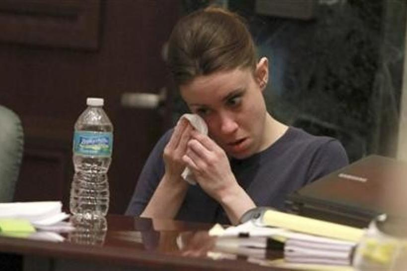 Casey Anthony listens to testimony about forensic evidence during her murder trial at the Orange County Courthouse in Orlando, Florida, June 10, 2011.