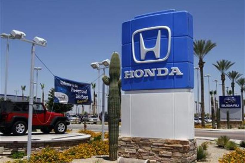 A Honda sign is displayed outside SanTan Honda Superstore in Chandler, Arizona