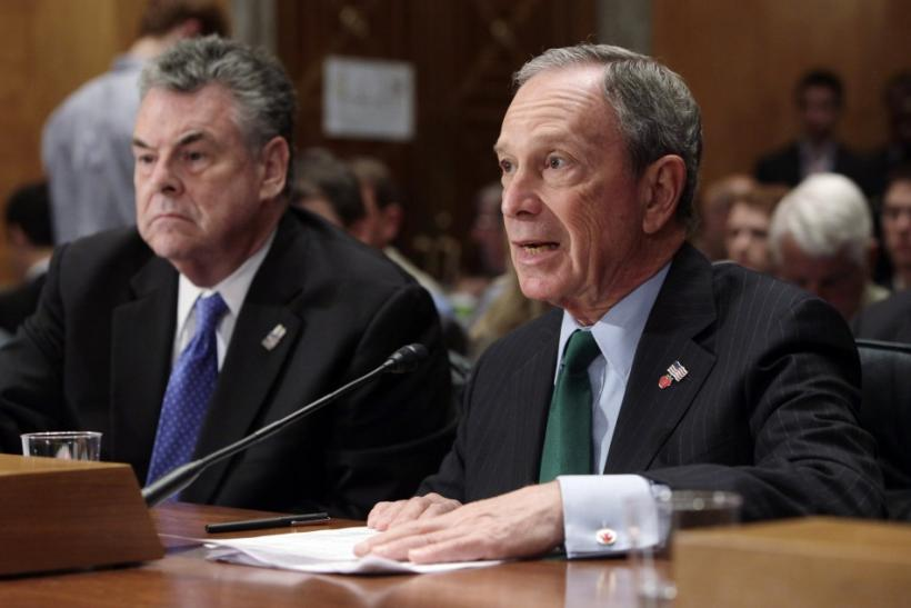Bloomberg and King testify before the Senate Homeland Security and Governmental Affairs Committee on Capitol Hill