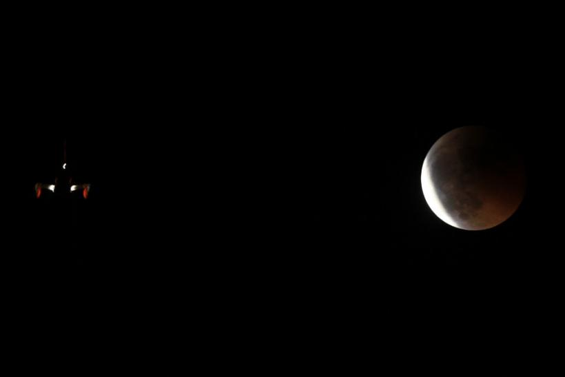 total lunar eclipse in Malaga