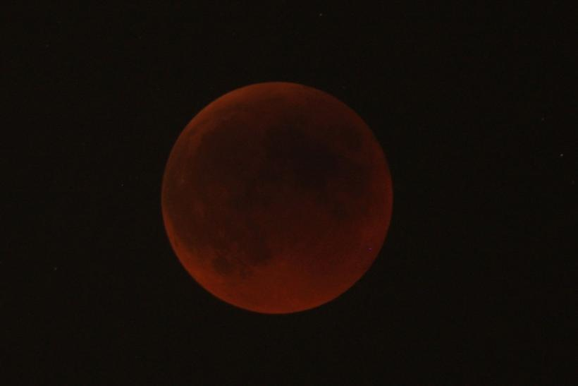 lunar eclipse as seen from Amman