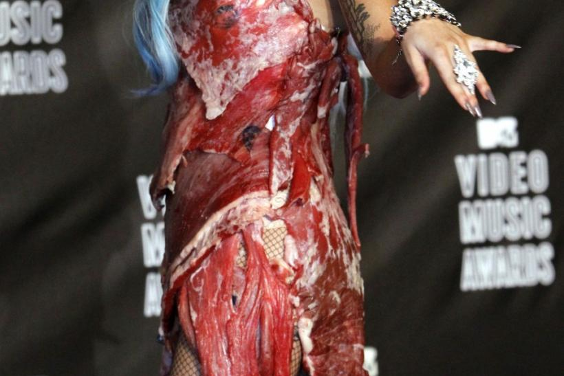 Lady Gaga meat dress enters Rock Hall of Fame