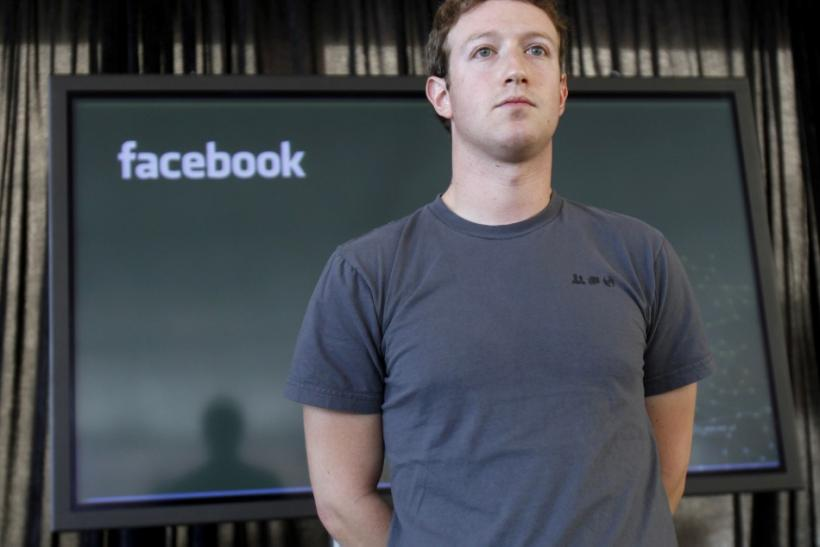 Facebook CEO Mark Zuckerberg listens to a question from the audience in San Francisco