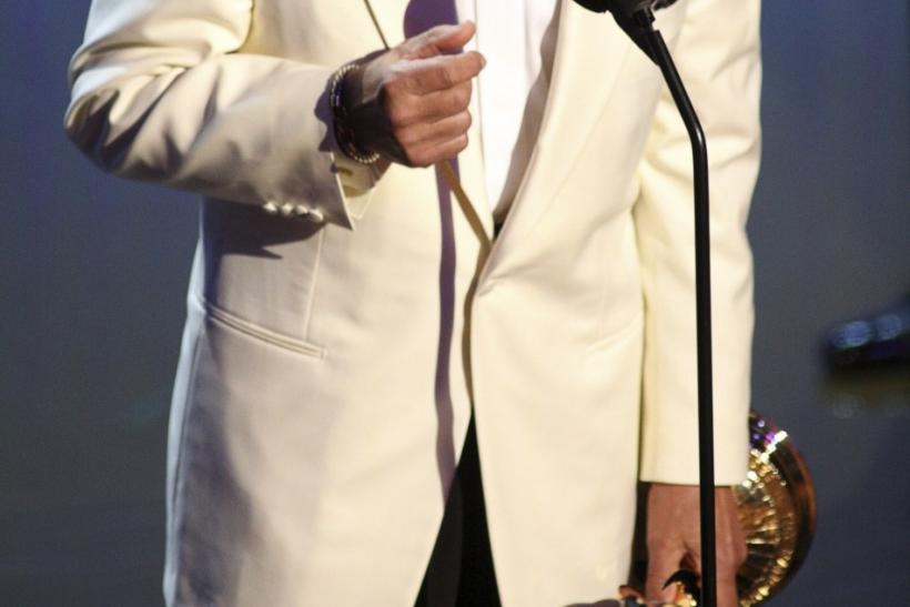 Television host Trebek accepts Lifetime Achievement Award during the 38th Annual Daytime Entertainment Emmy Awards in Las Vegas