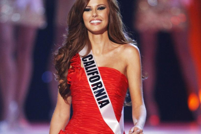 Miss California Alyssa Campanella arrives to introduce herself during the 2011 Miss USA pageant in the Theatre for the Performing Arts at Planet Hollywood Hotel and Casino in Las Vegas