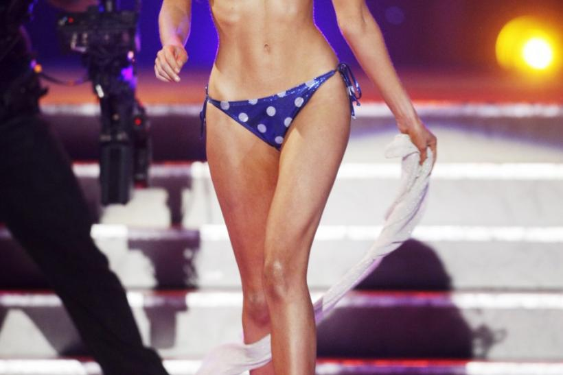 Miss California Campanella competes in the swimsuit portion of the 2011 Miss USA pageant in Las Vegas