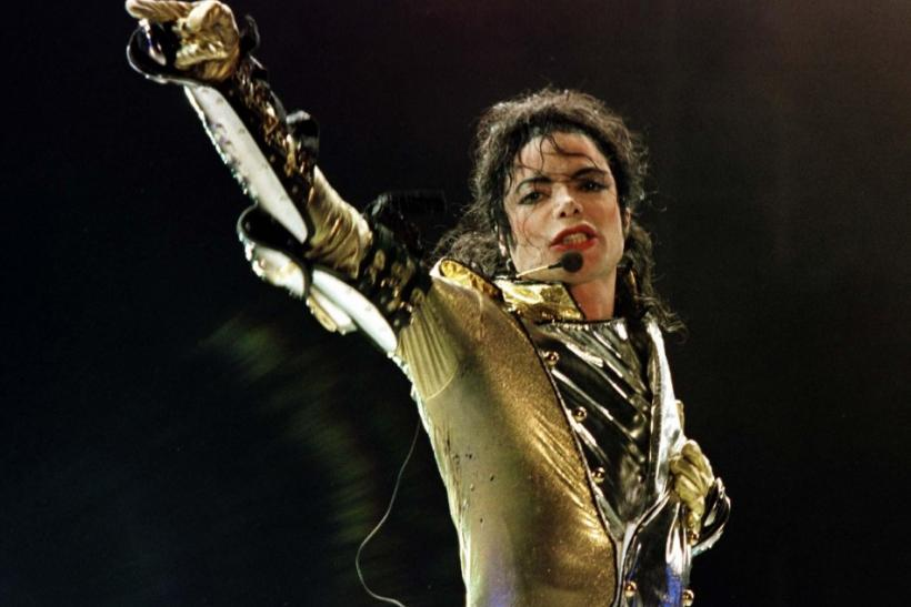 File photo of U.S. popstar Michael Jackson performing during his concert in Vienna